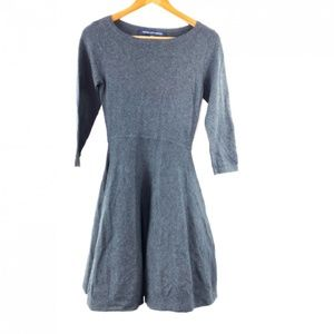 French Connection 2 Sweater Dress Gray Xs Skater